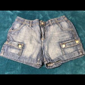 Faded Glory denim cargo shorts
